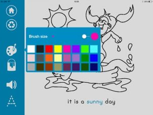 colorful page my weather book