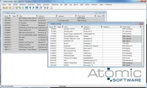 atomic software erp, screen shot of the dashboard