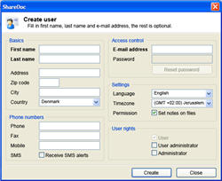 Creating a user in CBA software