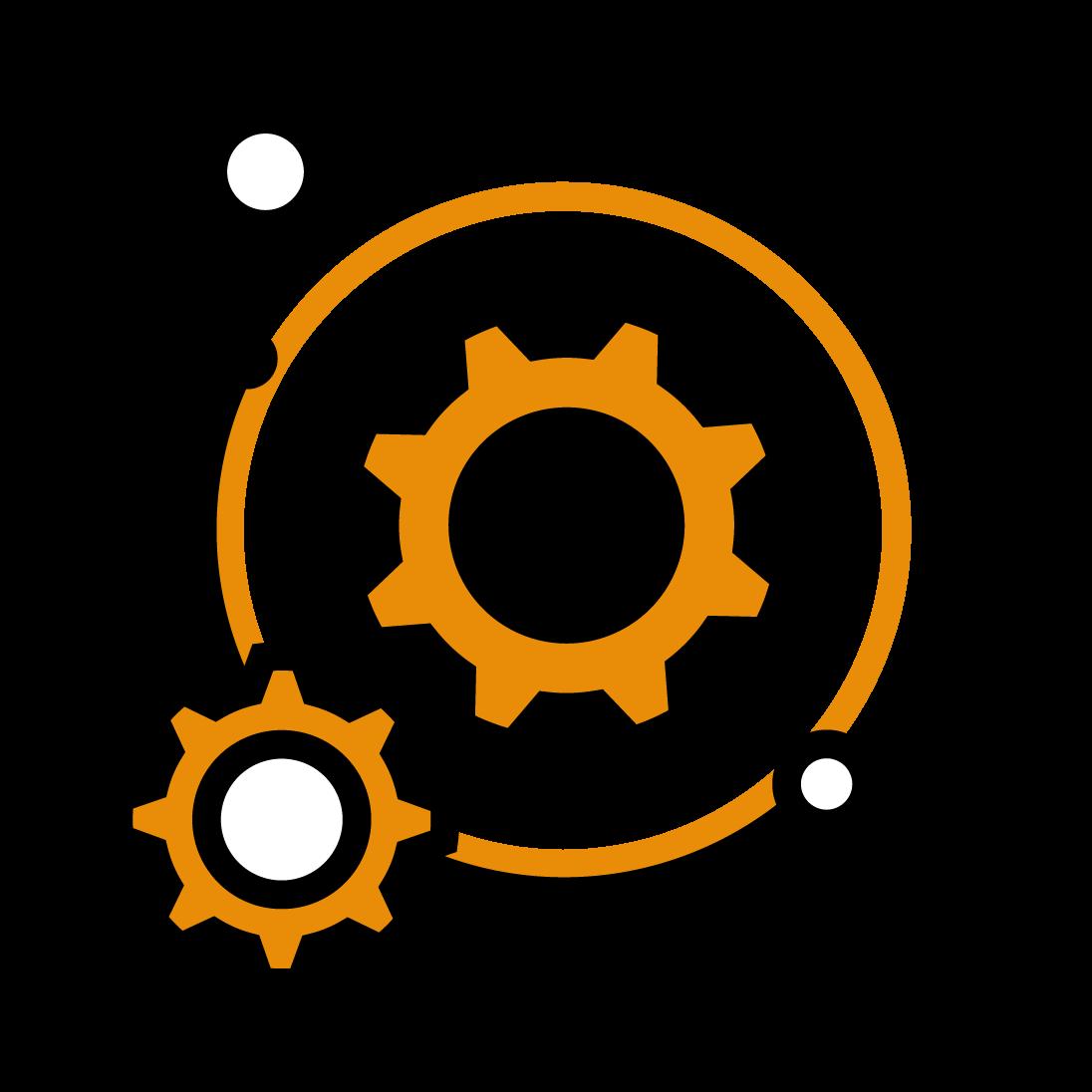 Symbol of gear wheels