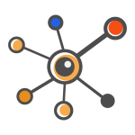 interconnected nodes representing the process of machine learning