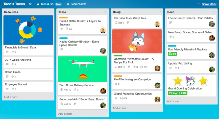 Boards in Trello Project Management App