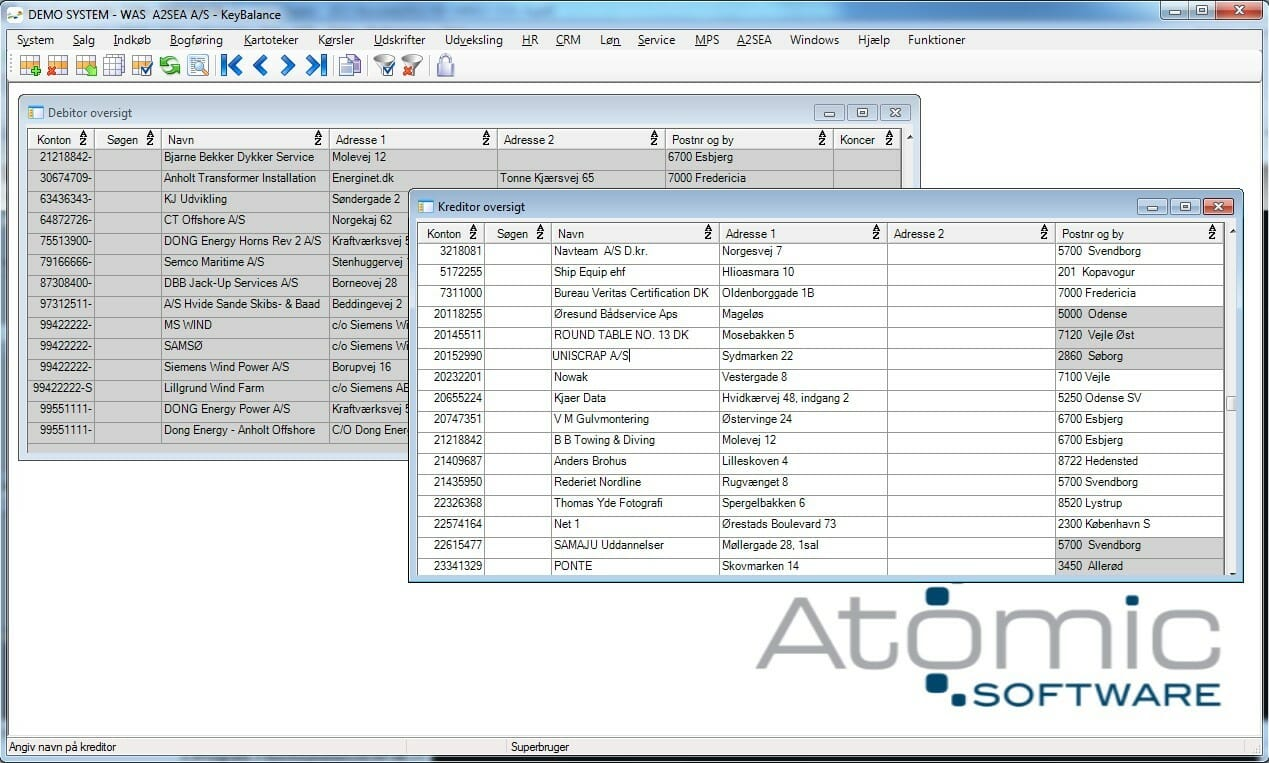 erp keybalance atomic