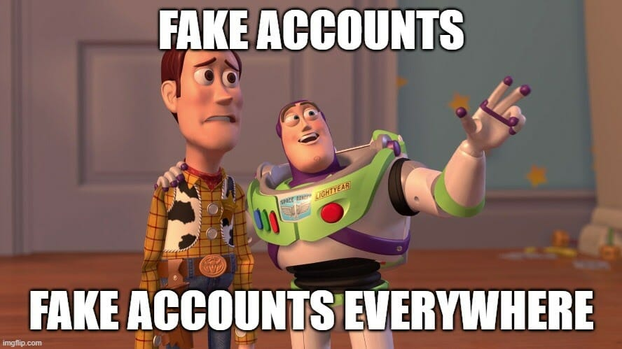 fake accounts and ai