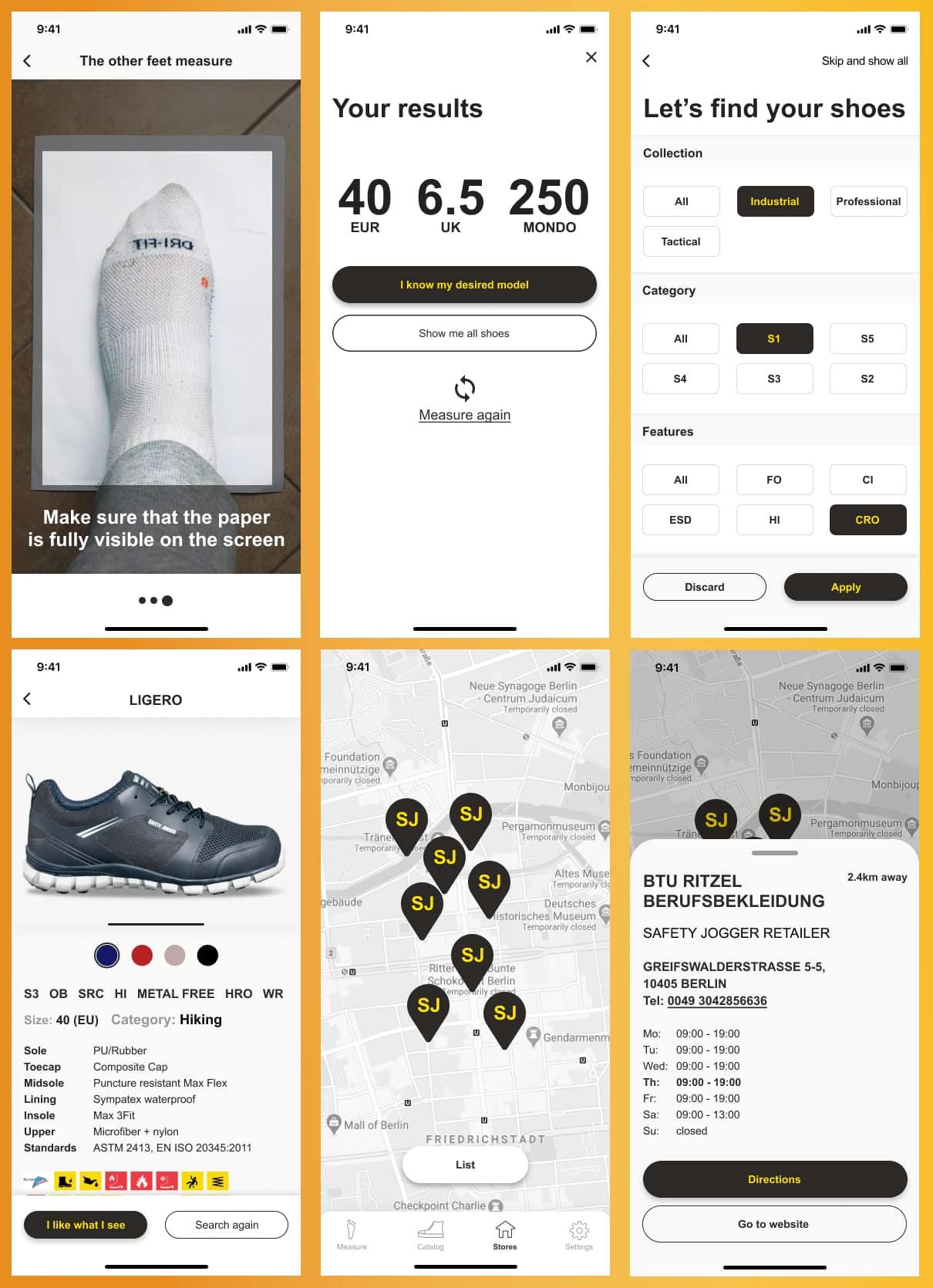 computer vision foot size measurement app